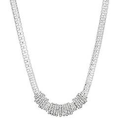 Principles - Crystal charm mesh necklace