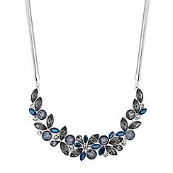 Principles - Blue crystal cluster statement necklace