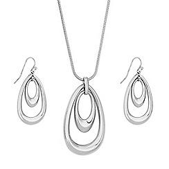 Principles - Double teardrop jewellery set