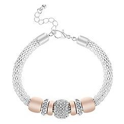 Principles - Crystal charm mesh bracelet