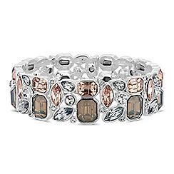 Principles - Silver crystal cluster stretch bracelet