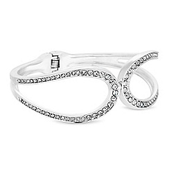 Principles - Silver crystal open bangle