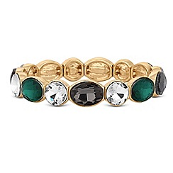 Principles - Green crystal oval stretch bracelet