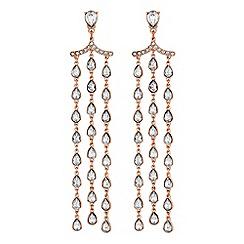 Red Herring - Crystal droplet chandelier earrings