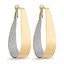 Red Herring - Glitter inlay hoop earrings