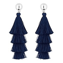 Red Herring - Layered tassel earrings