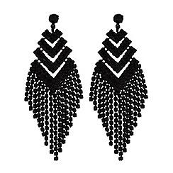 Red Herring - Crystal arrow drop earrings