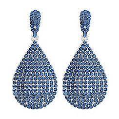 Red Herring - Crystal pave peardrop earrings
