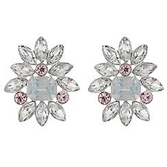 Red Herring - Crystal cluster stud earrings
