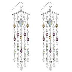 Red Herring - Pearl and crystal drop earrings