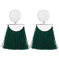 Red Herring - Fringe drop earrings