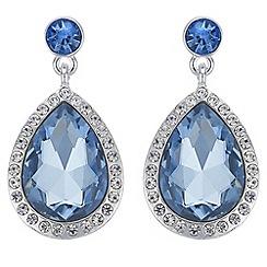 Red Herring - Crystal peardrop earrings