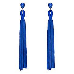 Red Herring - Blue tassel drop earrings
