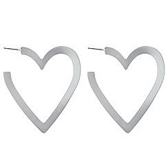 Red Herring - Heart hoop earrings