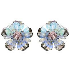 Red Herring - Sequin floral stud earrings