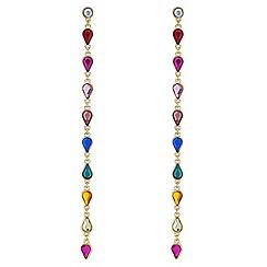 Red Herring - Rainbow crystal drop earrings