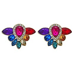 Red Herring - Rainbow crystal stud earrings