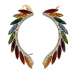 Red Herring - Rainbow crystal ear climber set