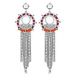 Red Herring - Beaded chain drop earrings