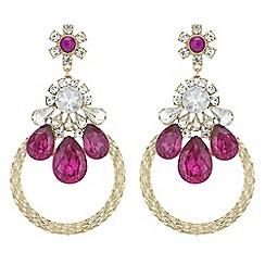 Red Herring - Crystal statement drop earrings