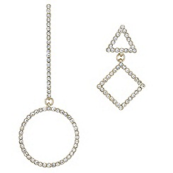Red Herring - Pave mismatch earrings set