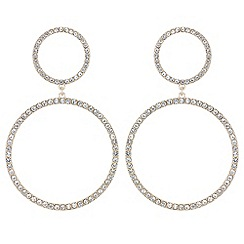 Red Herring - Pave hoop drop earrings