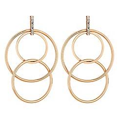 Red Herring - Multi hoop drop earrings