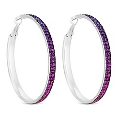 Red Herring Silver Purple Ombre Hoop Earrings