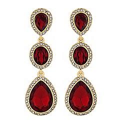 Red Herring Crystal Peardrop Drop Earring