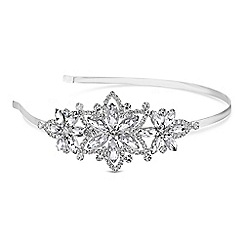 Red Herring - Floral crystal headband