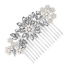Red Herring - Floral pearl hair comb