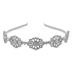 Red Herring - Silver crystal ornate headband