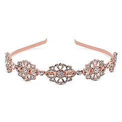 Red Herring - Rose gold crystal ornate headband