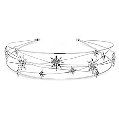 Red Herring - Silver crystal star headband