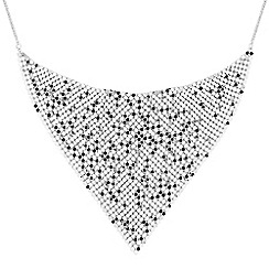 37484_RHNW056057: Silver chainmail scarf necklace