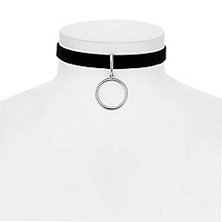 Red Herring - Silver ring choker necklace