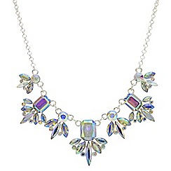 Red Herring - Aurora borealis crystal necklace