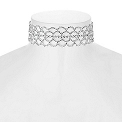 Red Herring - Diamante crystal choker necklace