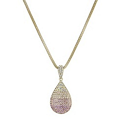 Red Herring - Crystal ombre peardrop necklace