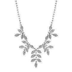 Red Herring - Diamante leaf necklace