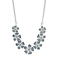Red Herring - Pave floral necklace