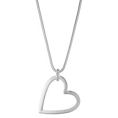 Red Herring - Heart pendant long necklace