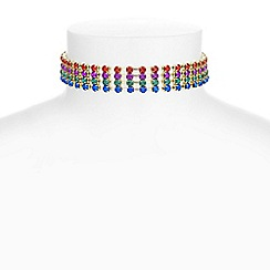 Red Herring - Rainbow crystal choker necklace