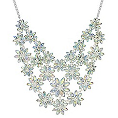 Red Herring - Graduated floral crystal necklace