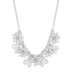 Red Herring - Crystal flower charm necklace