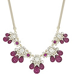 Red Herring - Crystal statement necklace