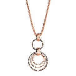 Red Herring - Pave circle pendant necklace