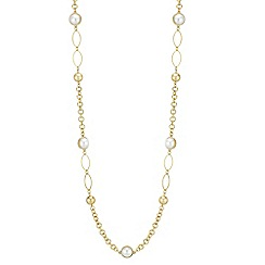 Red Herring - Pearl link rope necklace