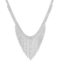 Red Herring - Diamante shower necklace