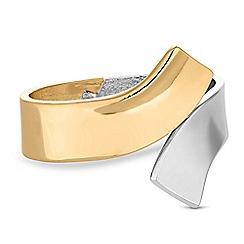 Red Herring - Multi tone curve cuff bracelet